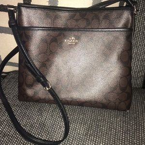 Coach Signature File Bag Crossbody Black/Brown OS